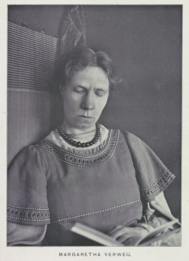 Karakterschets, portret van Margaretha Verweij in de Hollandsche Revue, 23-10-1908